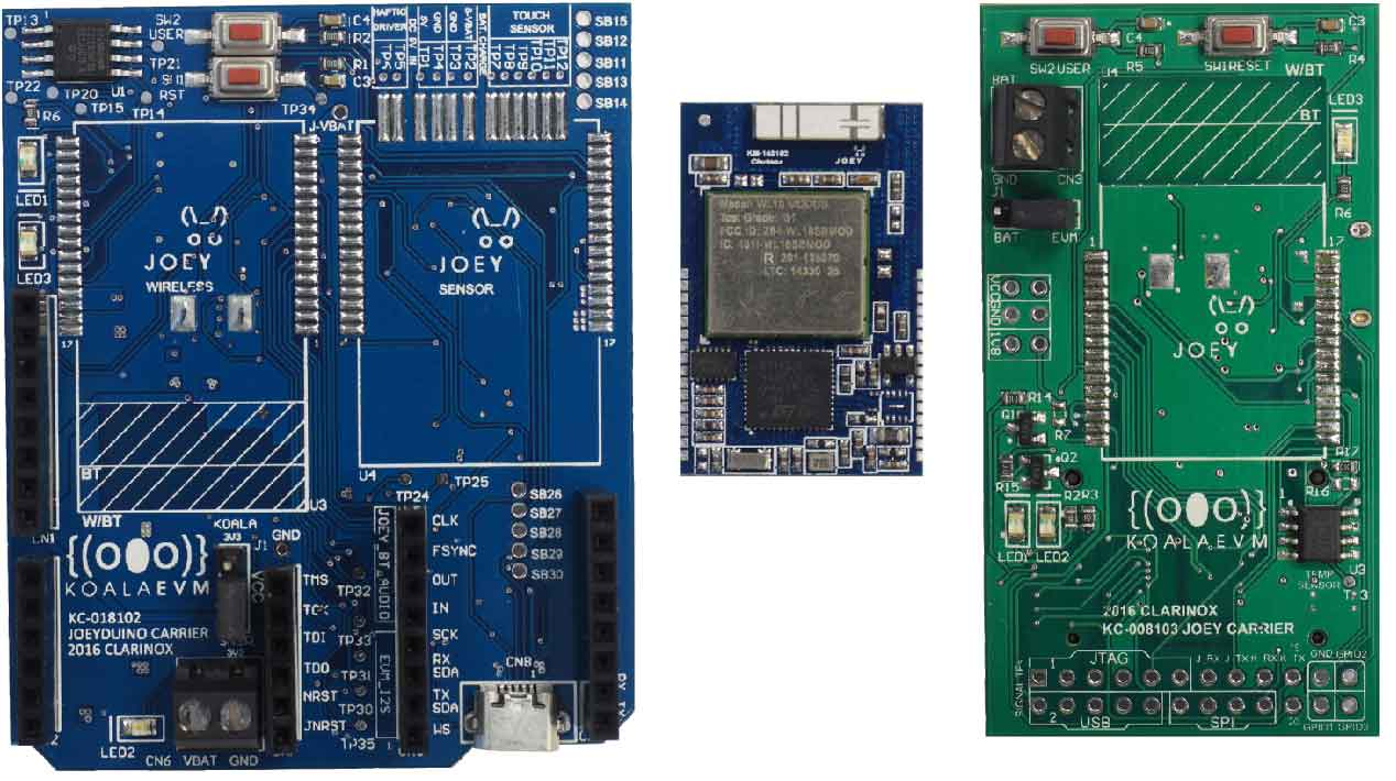 Carrier Board and Sensor Joey Modules for Koala EVM